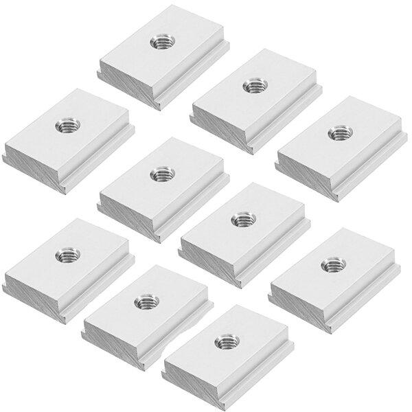 Machifit 10pcs M6 T Slot Nut T-Track Sliding Nut For Woodworking Tool Slot Fastener
