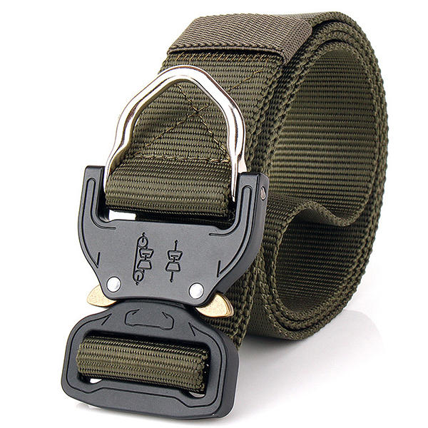 125CM Mens Nylon Tactical Belt Outdoor Sport Snabbkopplingsväv Militärbälten