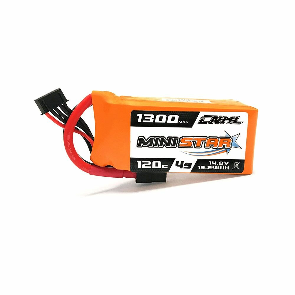 CNHL MiniStar 14.8V 1300mAh 4S 120C Lipo battery XT60 Plug for RC Drone FPV Racing