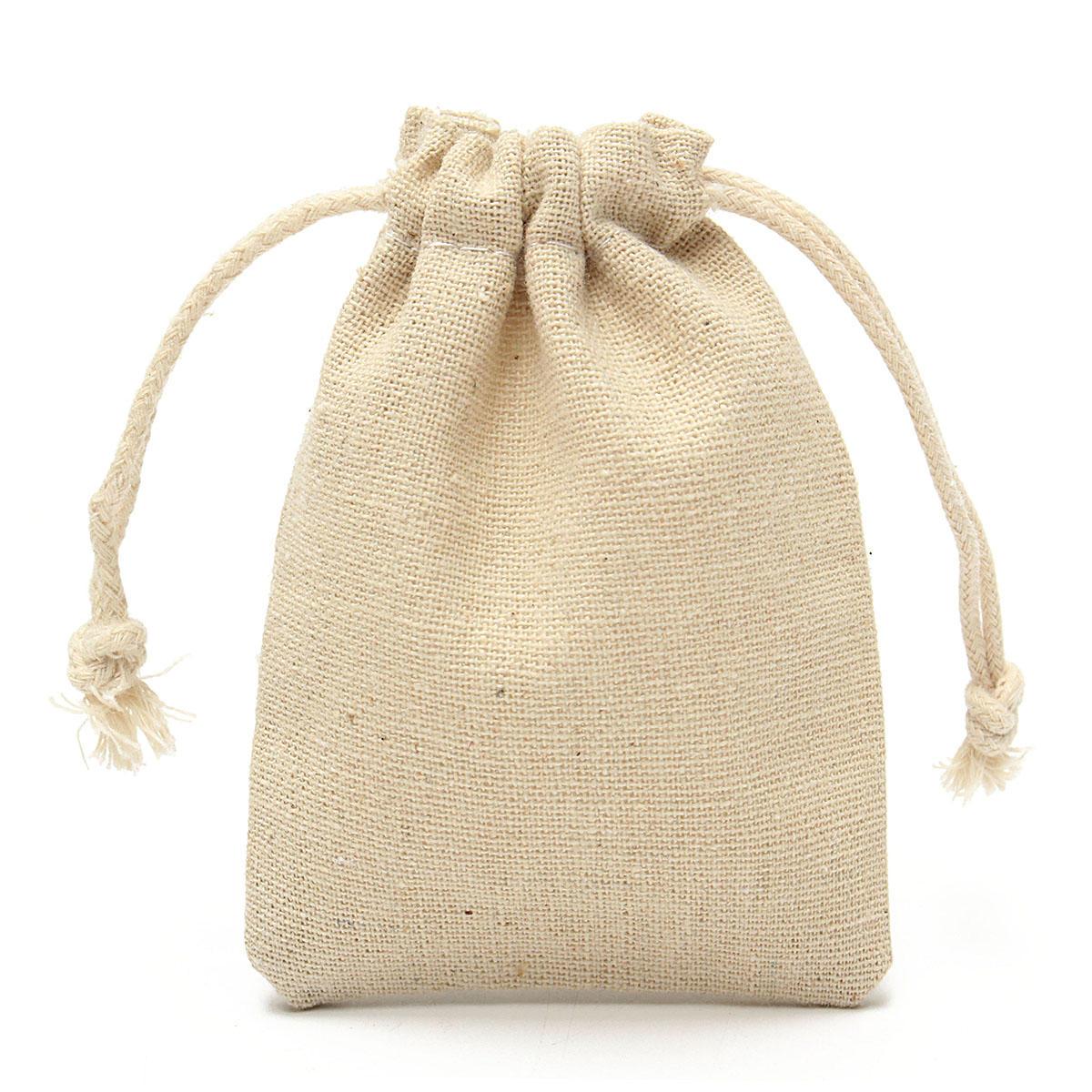 7fefddb7a 30Pcs Natural Linen Pouch Burlap Jute Sack Jewelry Pouch Drawstring Gift  Bags 8x10cm COD