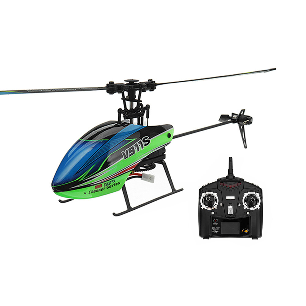 Wltoys V911s 24g 4ch 6 Aixs Gyro Flybarless Rc Helicopter Rtf Sale