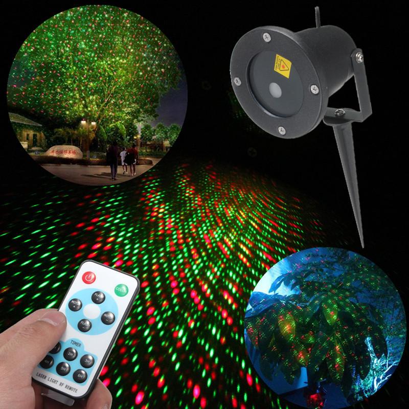 LED R & G Fern Garten Wasserdicht Schnee Laser Projektor Landschaft ...