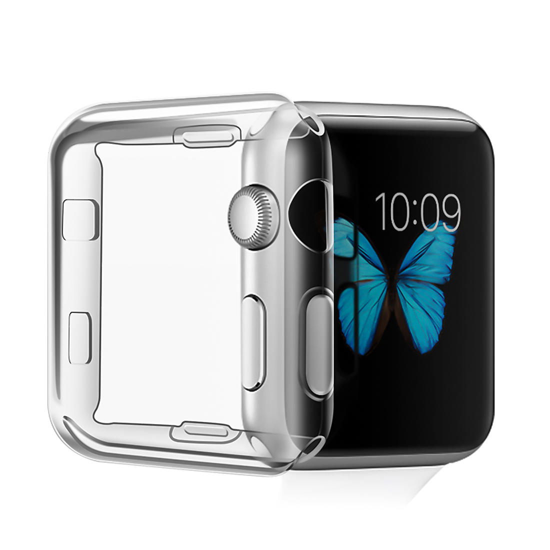 Clear Tpu Full Cover Case Screen Protector For Samsung Galaxy Watch 42 Mm Cell Phones & Accessories Cell Phone Accessories