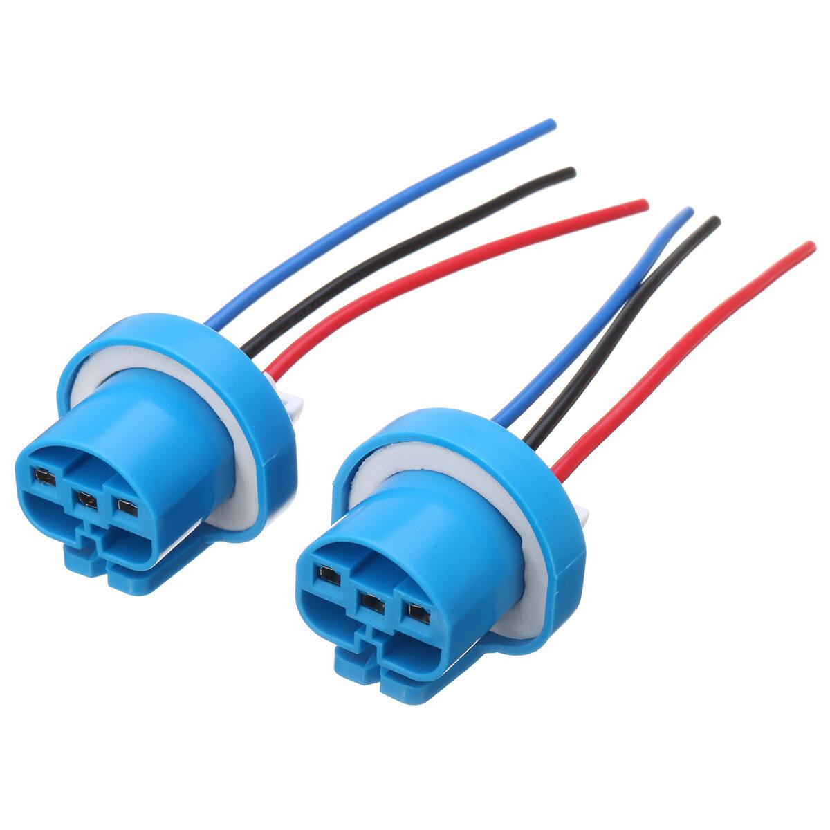 Terrific 2Pcs Led Bulb Lamp Light Wire Connector Plug Socket Holder 9007 9004 Wiring Digital Resources Bioskbiperorg