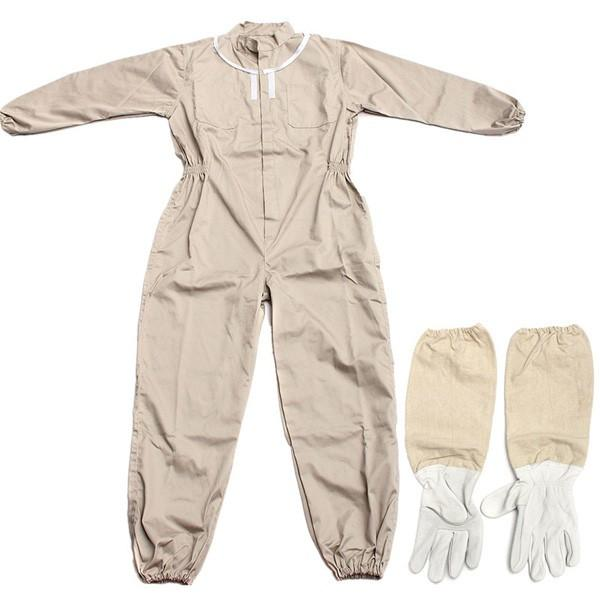 Pure Cotton Beekeeping Suit Bee Suit Heavy Duty Space Suit Leather Ventilated Bee Keeping Gloves