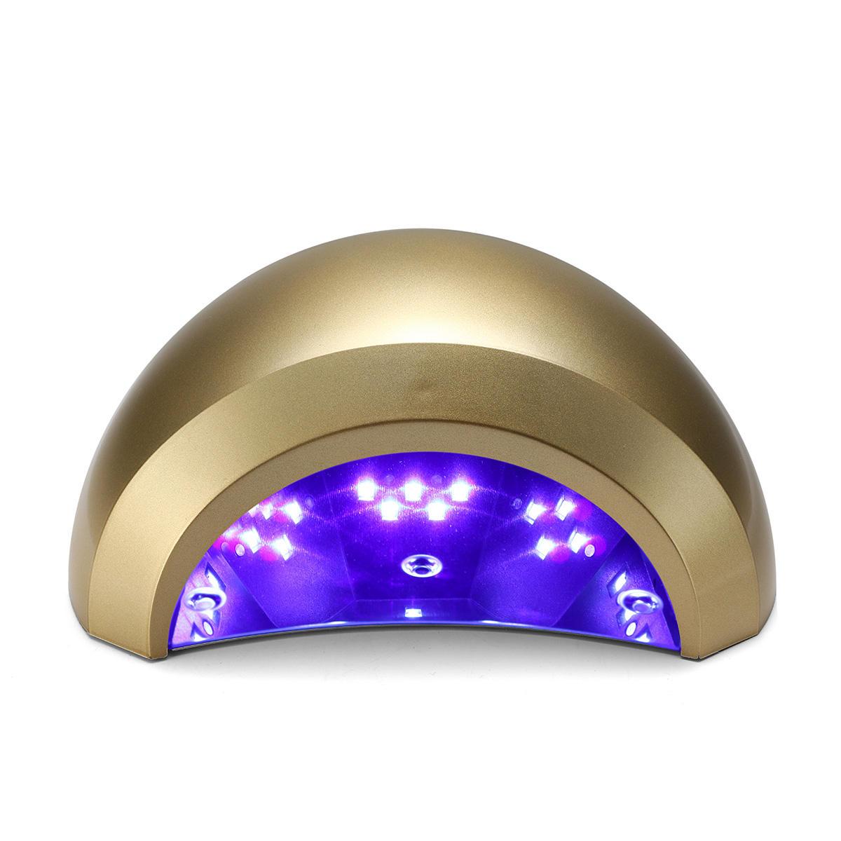 48W LED UV Lamp Time Setting Gel Polish Curling Nail Dryer Salon Tool Infrared Sensing 110-240V