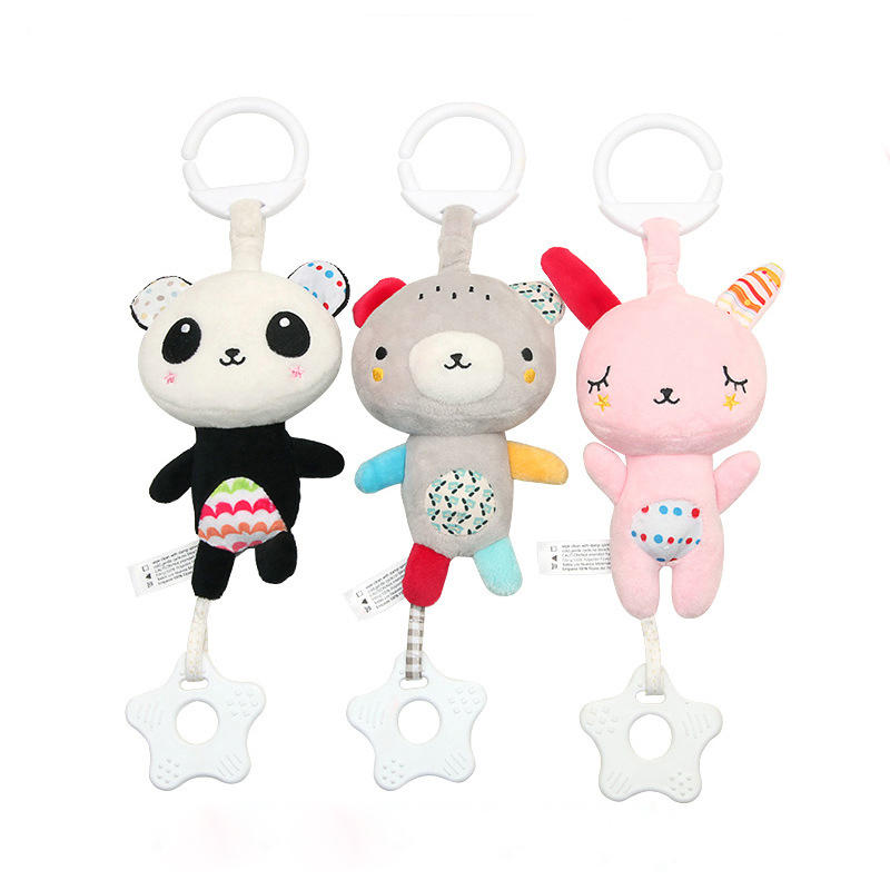 Multi-functional Dental Stuffed Short Plush Soundness Music Carriage Hanging Toy Children Bed Ornaments