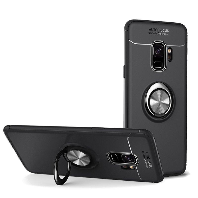 C-KU 360º Dönen Halka Kavrama Kicktand Koruyucu Kılıf Samsung Galaxy S9/S9 Plus Için