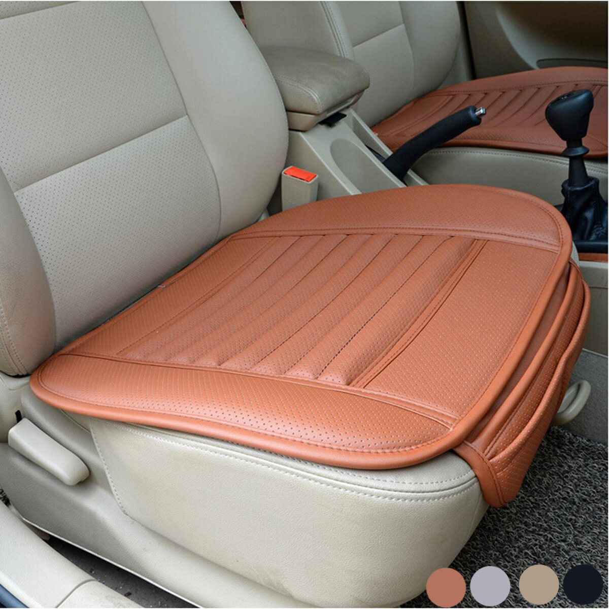 Universal Seat Pad PU Leather Bamboo Charcoal Car Cushions Covers For Auto Chairs