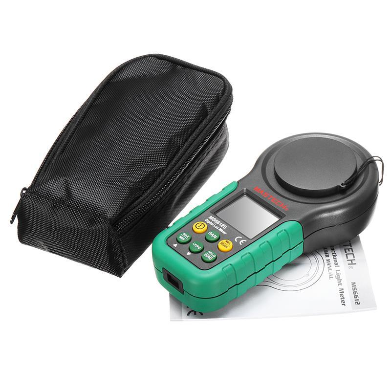 Mastech MS6612 200 000 Lux Test de mesure de lumière Spectra Auto Range Luxmètre numérique Lux Illuminomètre