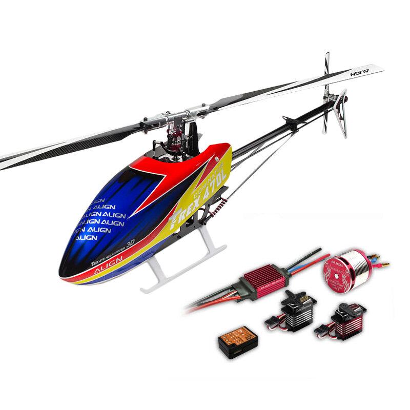 ALIGN T-REX 470LT Helicoptère Dominator Super Combo 450L Version Améliorée