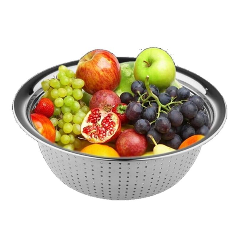 스테인레스 스틸 야채 과일 세척 소쿠리 워시 보울 Houseware 주방 싱크 바구니