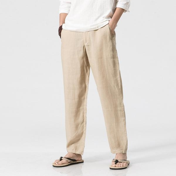 f65923842d8 Men s Loose Cotton Linen Casual Pants Breathable Summer Spring Large Size  S-3XL Straight Trousers COD