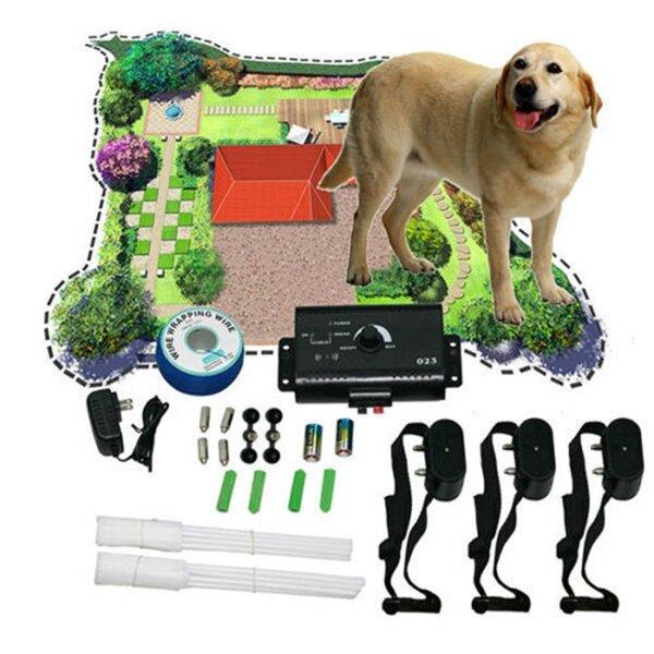 Yeni yeraltı şok yaka 3 yaka Pet Köpek 3 Köpeks için elektrikli çit