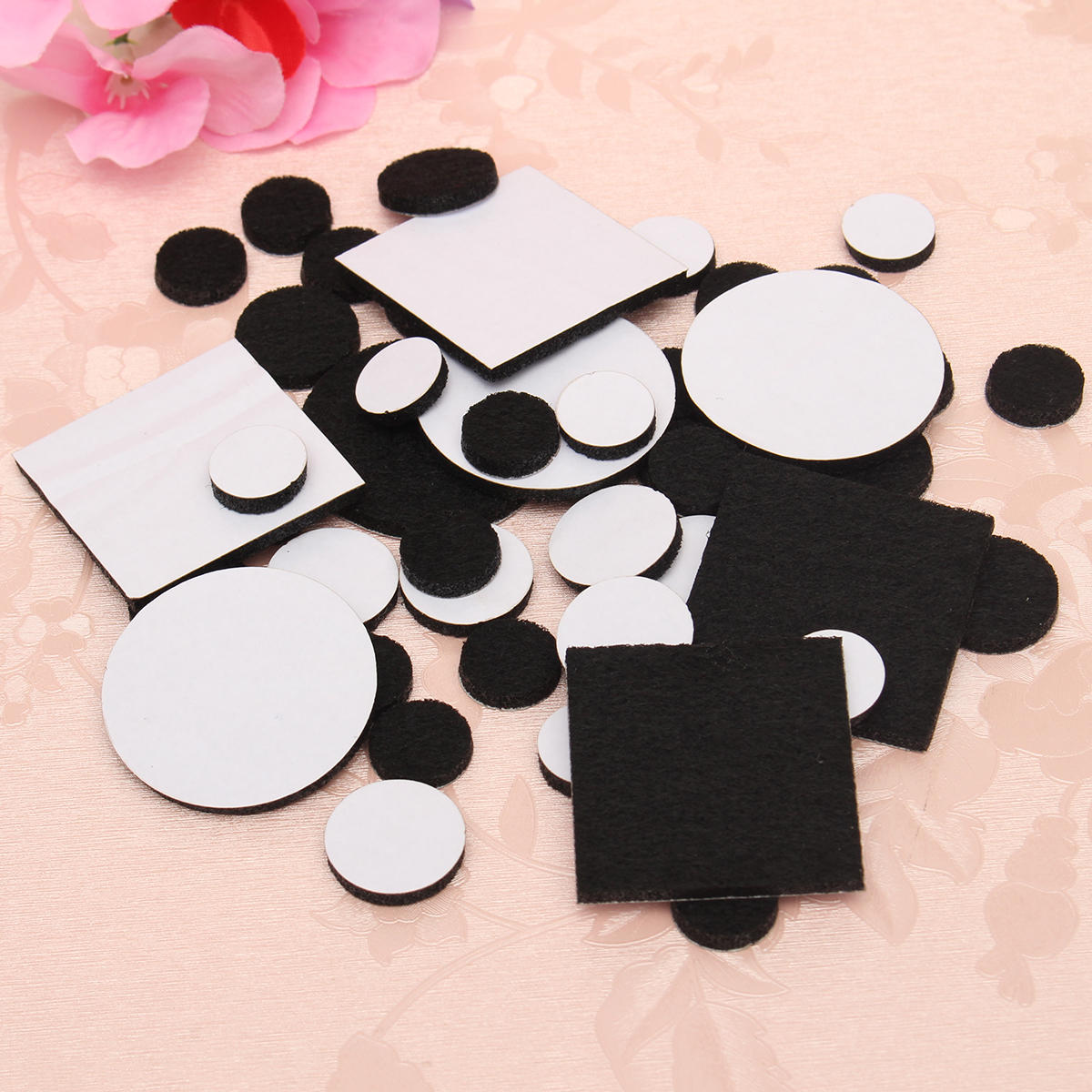 50pcs Floor Furniture Felt Pads Self Adhesive Sticky Protect Wood Chairs Scratch Banggood