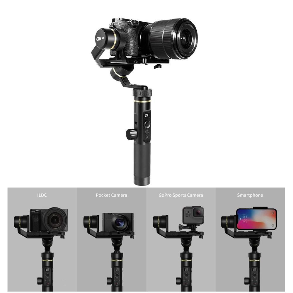 Feiyu Tech G6P G6 Plus 3-Axis Stabilized Handheld FPV Gimbal For Smartphone GoPro ILDC Pocket Camera