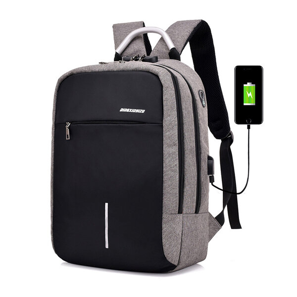 حقيبة كمبيوتر محمول للسرقة مكافحة سرقة مع قفل الجمع و USB ميناء الشحن