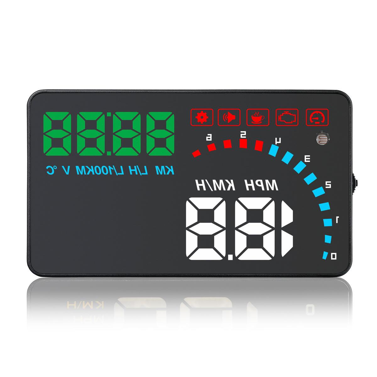 Universal D1000 4 pouces voiture HUD tête affichage haut OBD2 OBDII Auto vitesse numérique avertissement