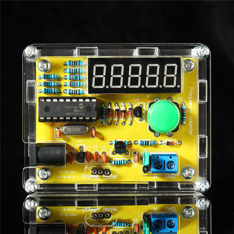 DIY Kits 1Hz-50MHz Crystal Oscillator Tester Frequency Counter Tester Meter Case