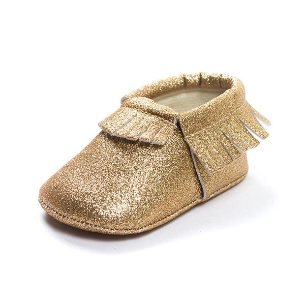 Shiny Bling Tassels Soft Sole Baby Girls First Walking Shoes