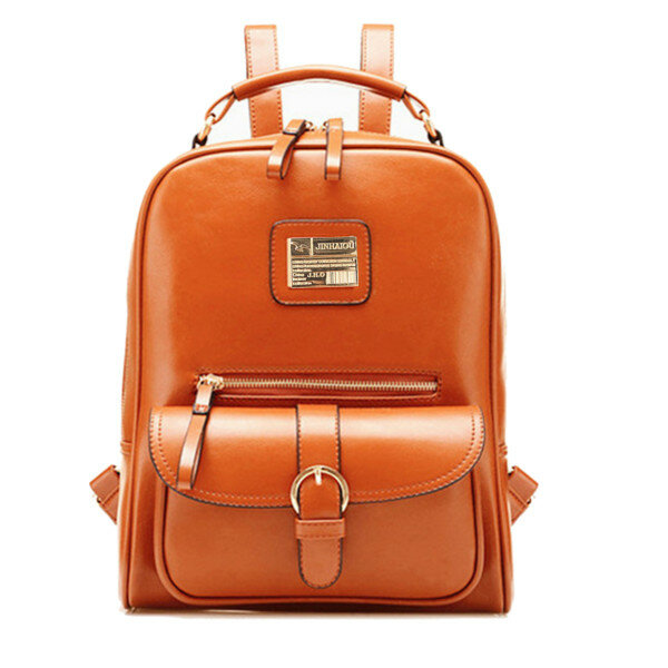 PU Leather Vintage Women Backpack Student School Bags Travel Rucksack COD 7ae4c6aa6f628