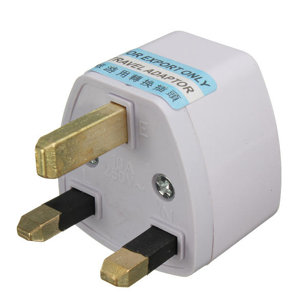 Universal Us Eu To Uk Ac Power Adapter Travel Converter Adapter 3 Pins 110v 240v White Sale