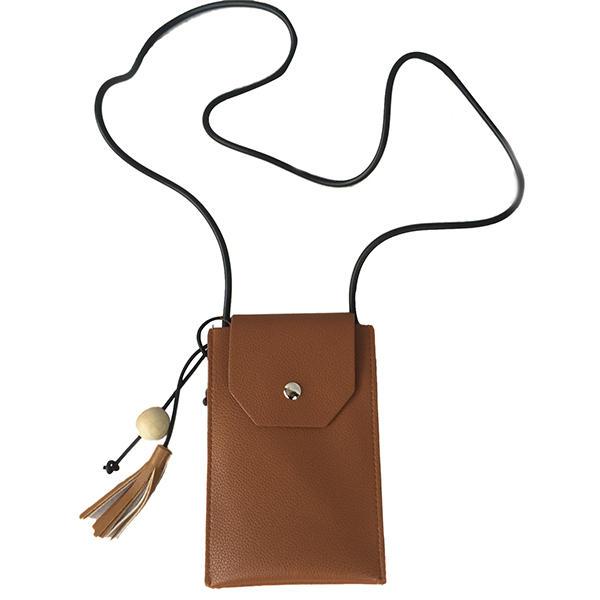 النساء الرجعية شرابة البسيطة حقائب الكتف عارضة غلق بمشبك أكياس كروسبودي 5.5 'أكياس الهاتف لفون 7 وعاء