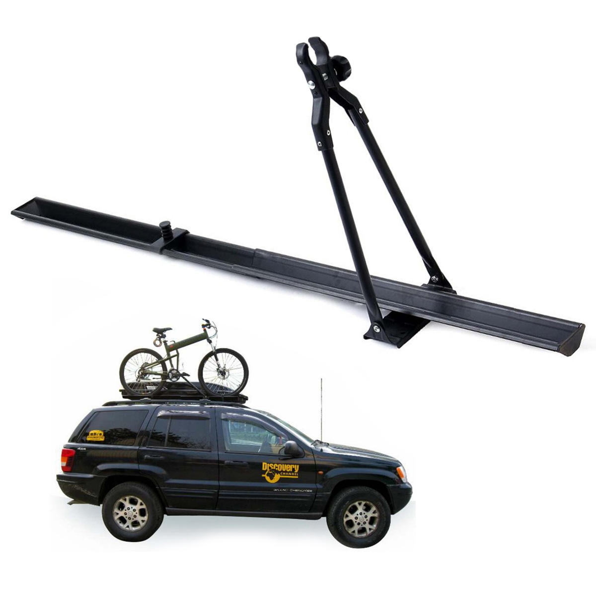 71cba22fbd9 BIKIGHT Universal Car Roof Bike Carrier Top Mount Rack Bicycle Racks Travel  Outdoors 150cm Fit for Most Car COD