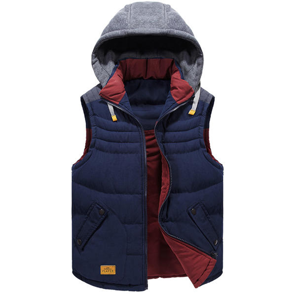 494c87d6b2 mens winter vest double sided wear casual hooded fashion contrast color  sleeveless coat at Banggood sold out