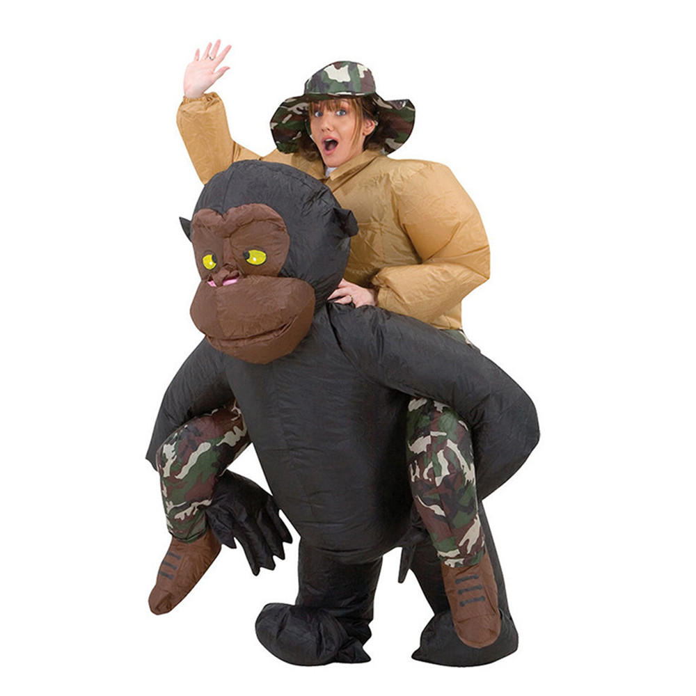 Jouets gonflables Costume adulte Costume Blowup Orangutans Tour Vêtements Outfit Party avec Cap