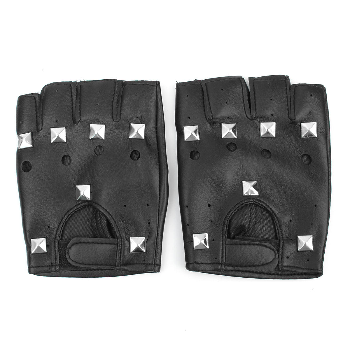 a7aaf0944 fingerless punk rivet leather gloves motorcycle driving mittens Sale -  Banggood.com sold out