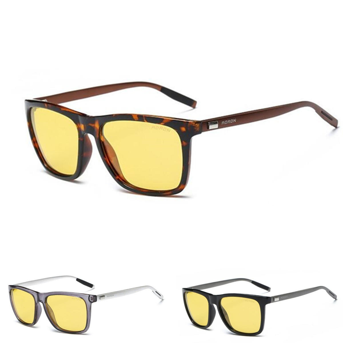 41d034c331d761 AORON Aluminium Men Polarized Driving Sunglasses Glasses Night Vision  Anti-Glare Lens