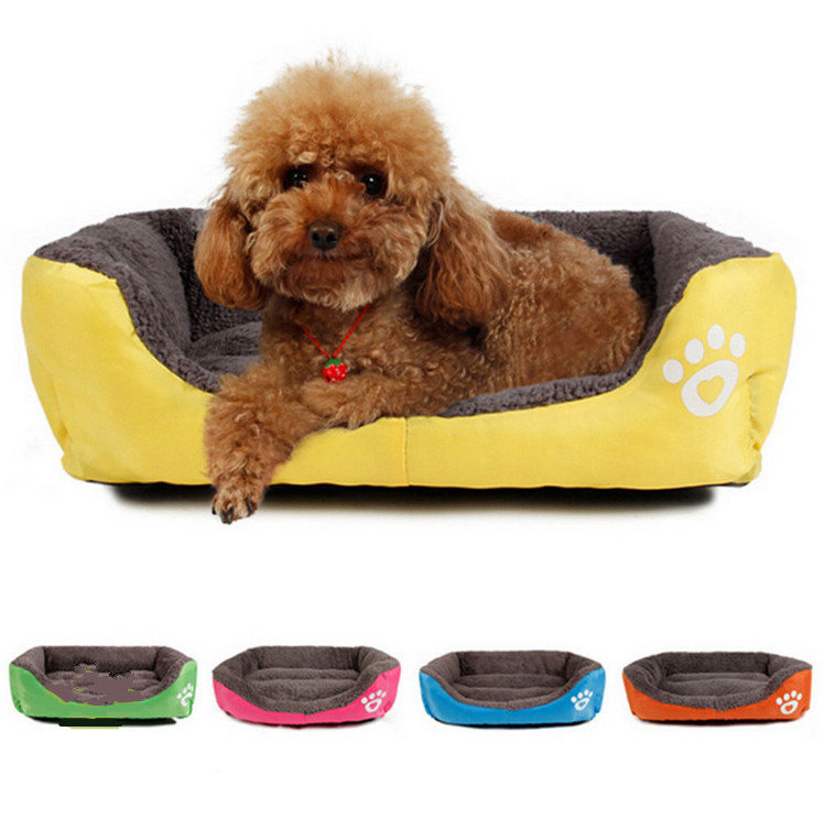 L Size Dog Cat Pet Puppy Kennels Beds Mat Houses Doghouse Warm Soft Pad Blanket