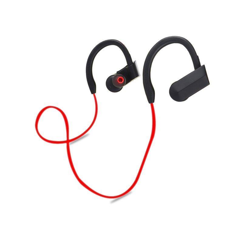 Mic ile Taşınabilir Kablosuz Bluetooth Telefon Kulaklığı Stereo Su Geçirmez Gürültü Spor Kulaklık
