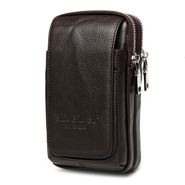 Genuine Leather Multi-function Fanny Waist Bag Belt Bum Pouch Phone Bag Coin Purse For Men