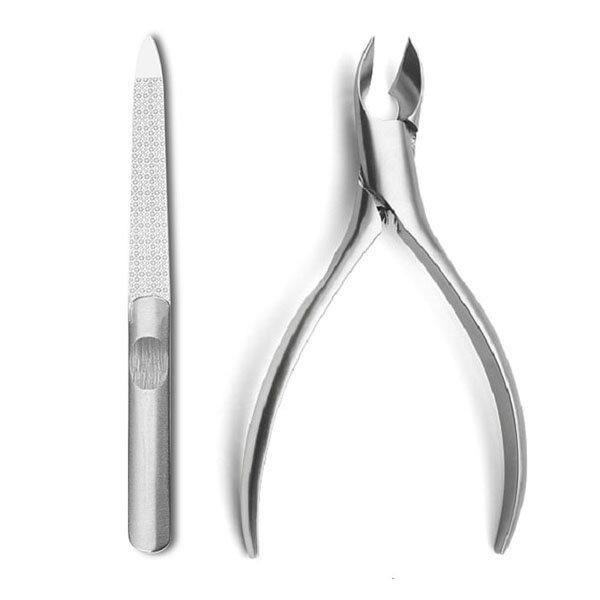 YFM® 2штук(а)Ниппер из нержавеющей стали для вросших ногтей Клипперы и Файлы Резка Толстый педикюр Инструмент для резки ногтей