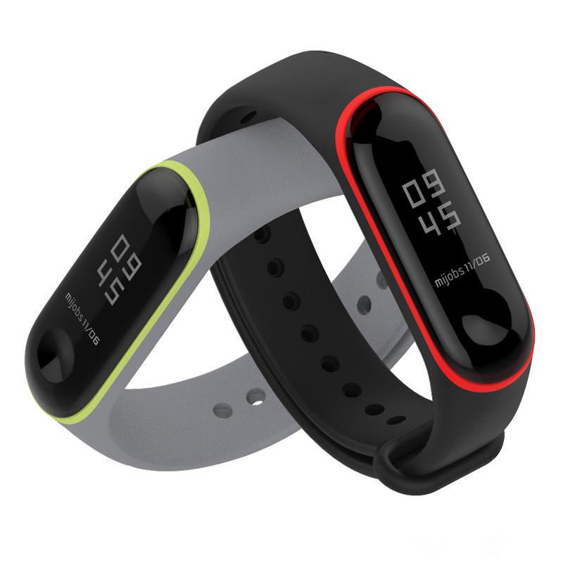 Mijobs Colorful Silikon erstatning armbånds armbånd armbånd for XIAOMI Mi Band 3 Sale - Banggood Mobile