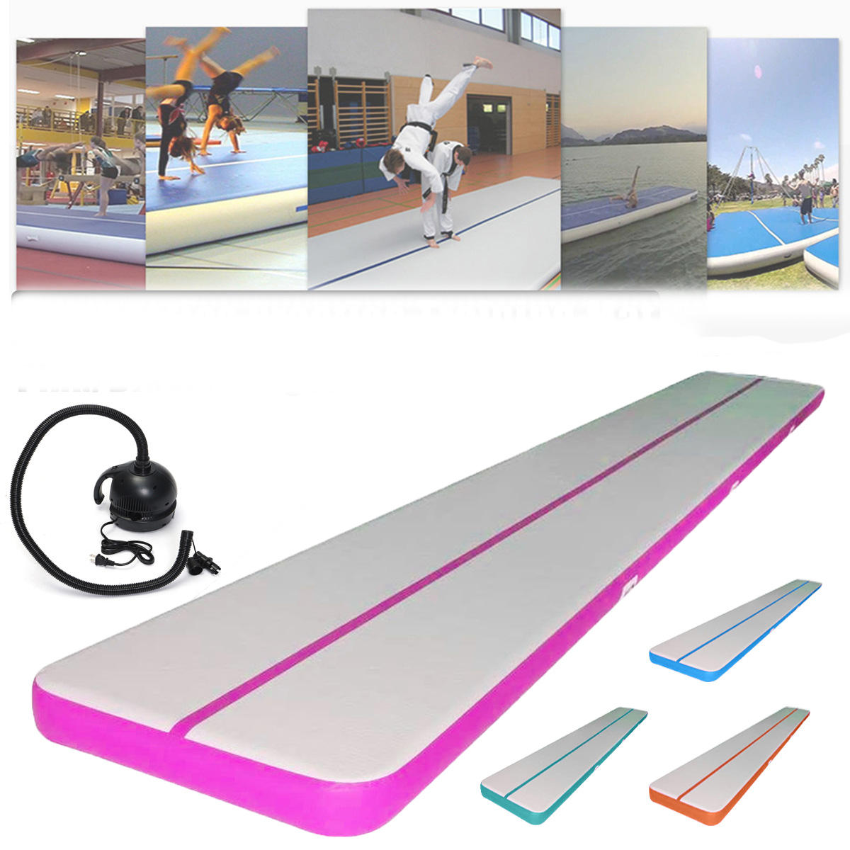 157 4x39 3x3 9inch Gonflable Gym Air Tapis Gym Pratique Mat Tumbling