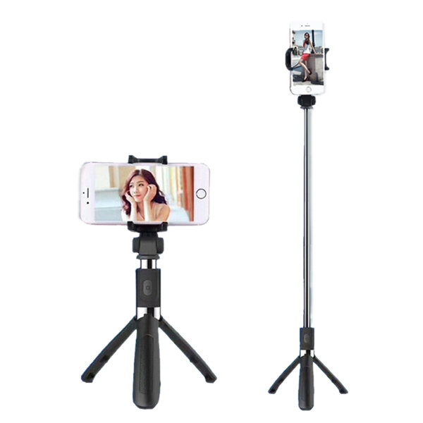 Bakeey L01 360 Degree Rotatable Extendable Tripod Selfie Stick with bluetooth Remote Control