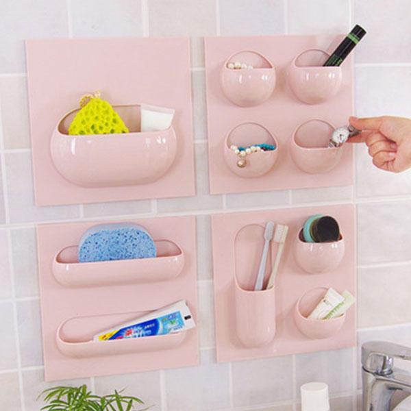 Duvar Saklama Sepeti Banyo Mutfak Eğitim Creative Askı Çok fonksiyonlu Holder Kutu Düzenleyici