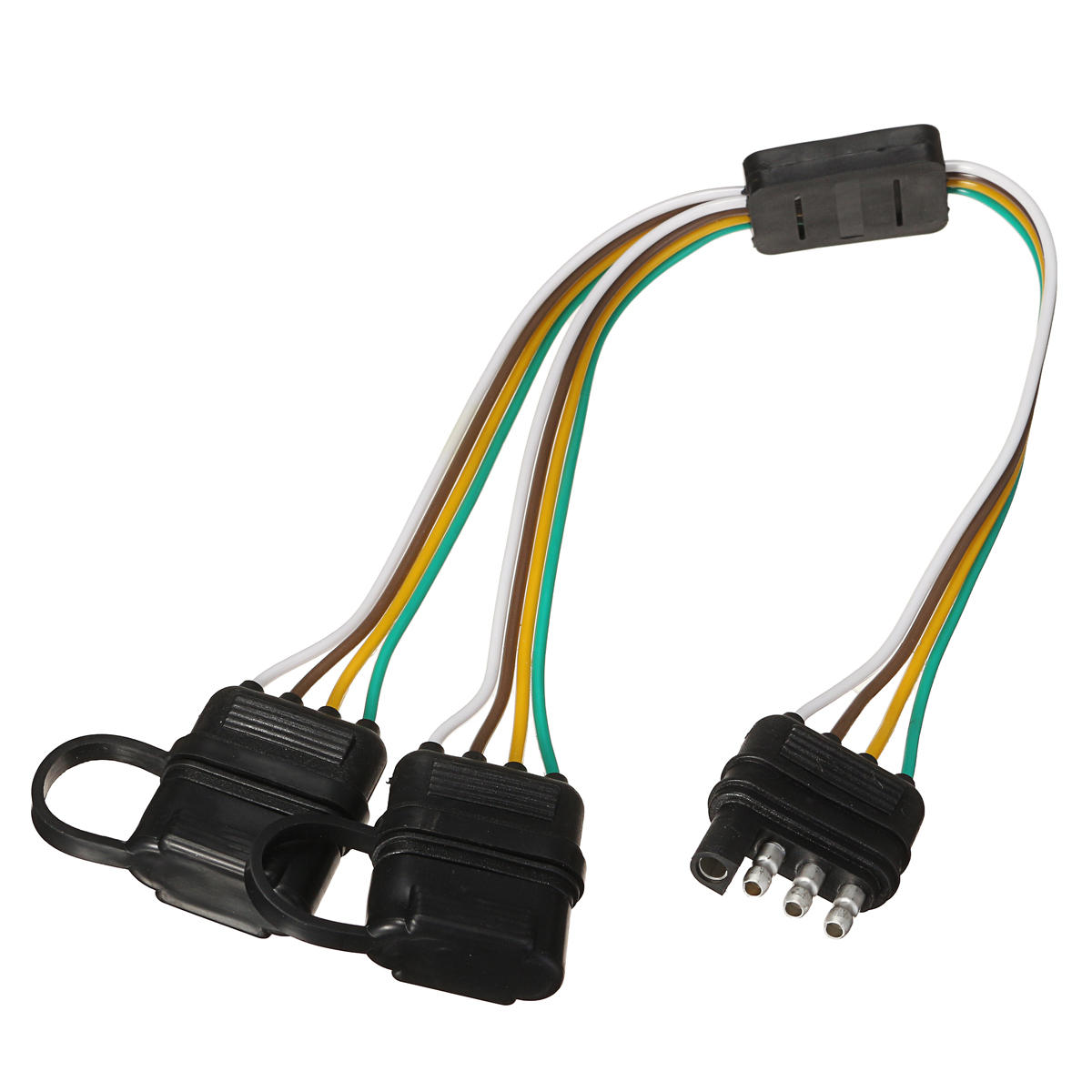 Trailer Splitter Harness Adapter 2 Way 4pin Y Split For Rear Camera Wire Tail Light Wiring On Led Tailgate