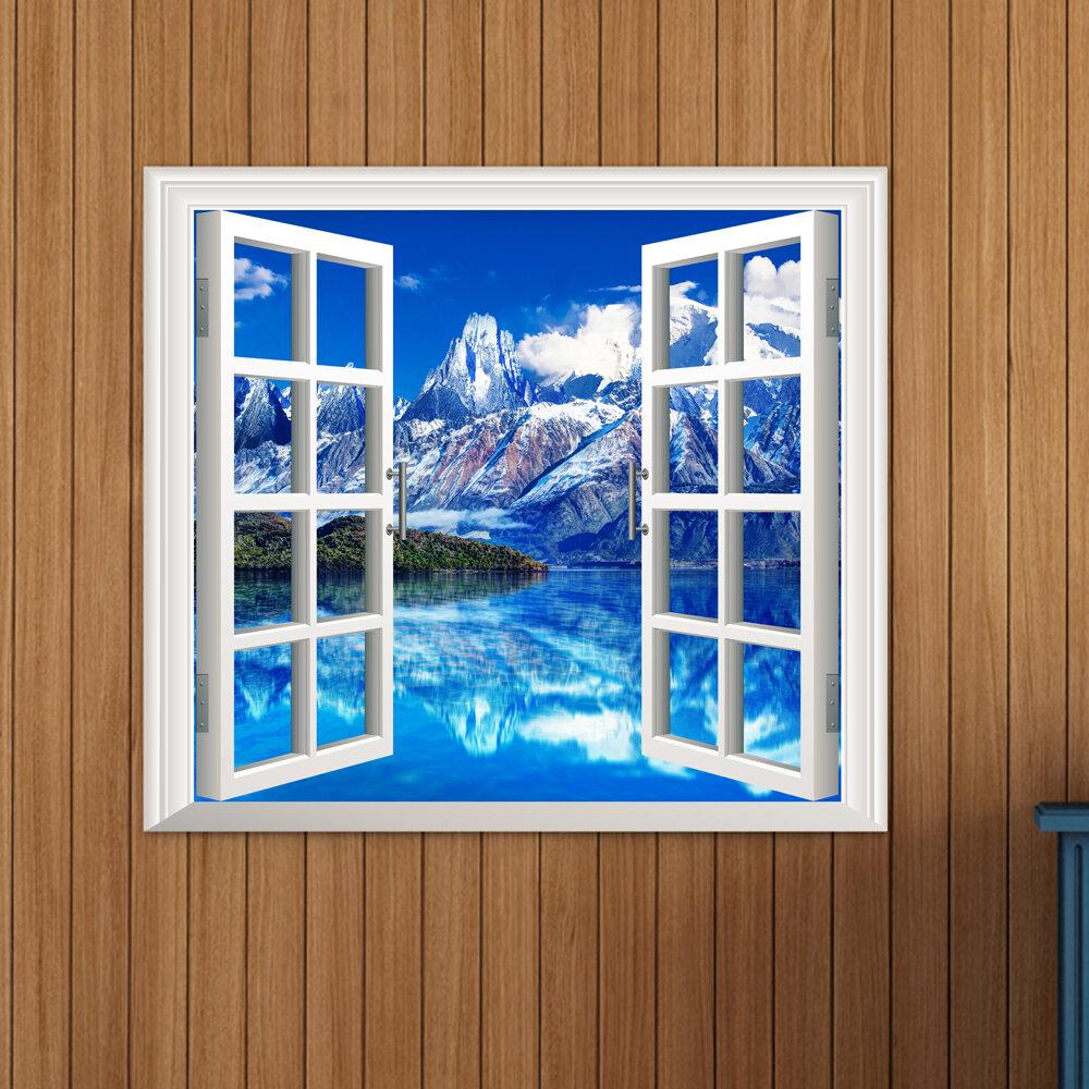 Iceberg vista 3D artificiale finestra vista decalcomanie 3d parete della stanza di adesivi pag regalo decorazione della parete di casa