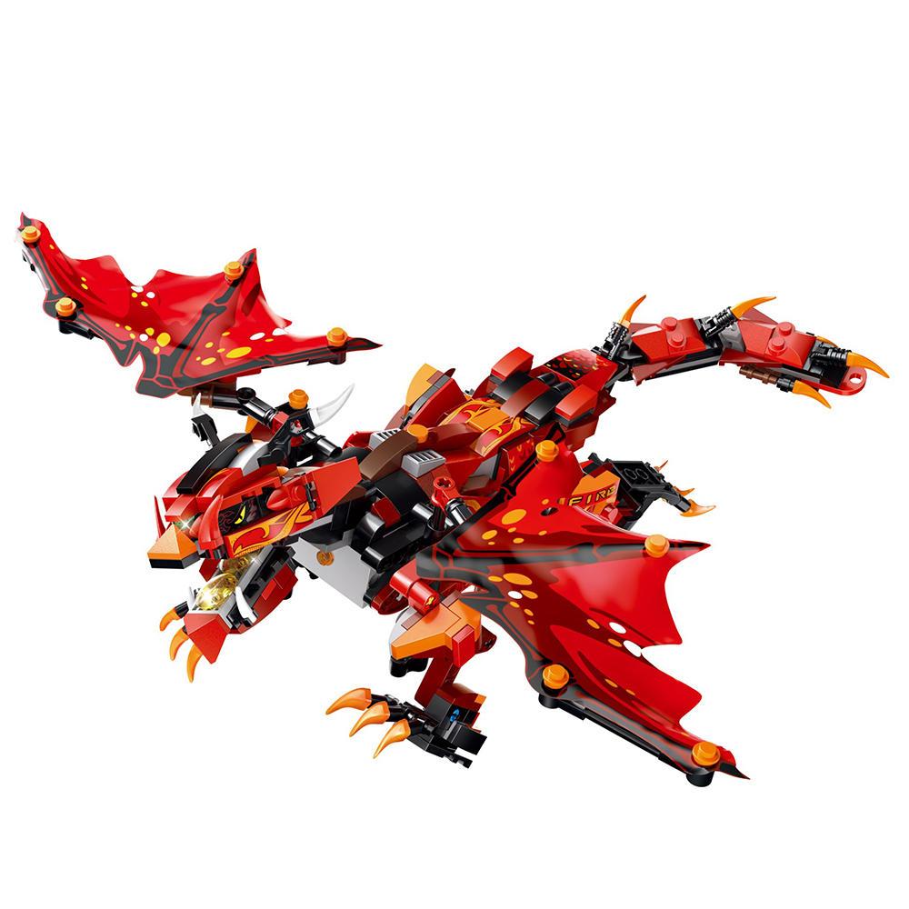 MoFun Bataille Rouge Dragon 2.4G 4CH RC Robot Infrarouge Bloc de Contrôle Bâtiment Assemblé Robot Jouet Cadeau