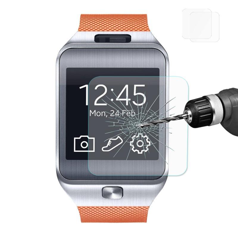 Samsung Galaxy Gear 2 R380 için 2 Paket Enkay 2.5D Temperli Cam Ekran Koruyucu
