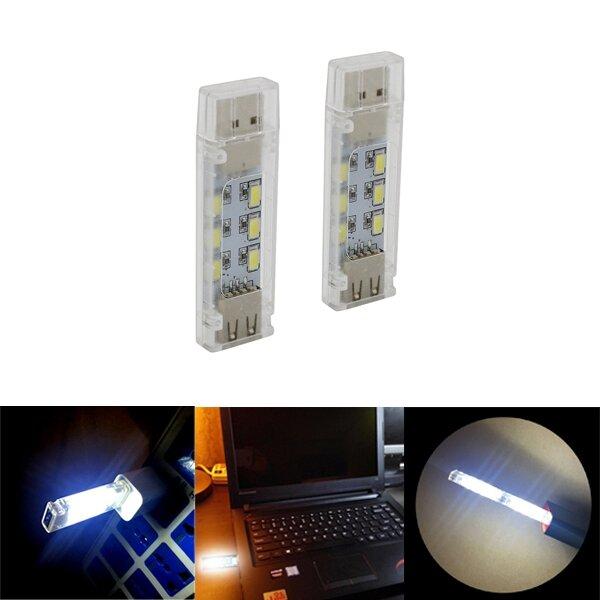 ミニノートパソコンのノートパソコンのパワーバンクのためのミニUSB 12 LED両面ナイトライトリーディングランプ