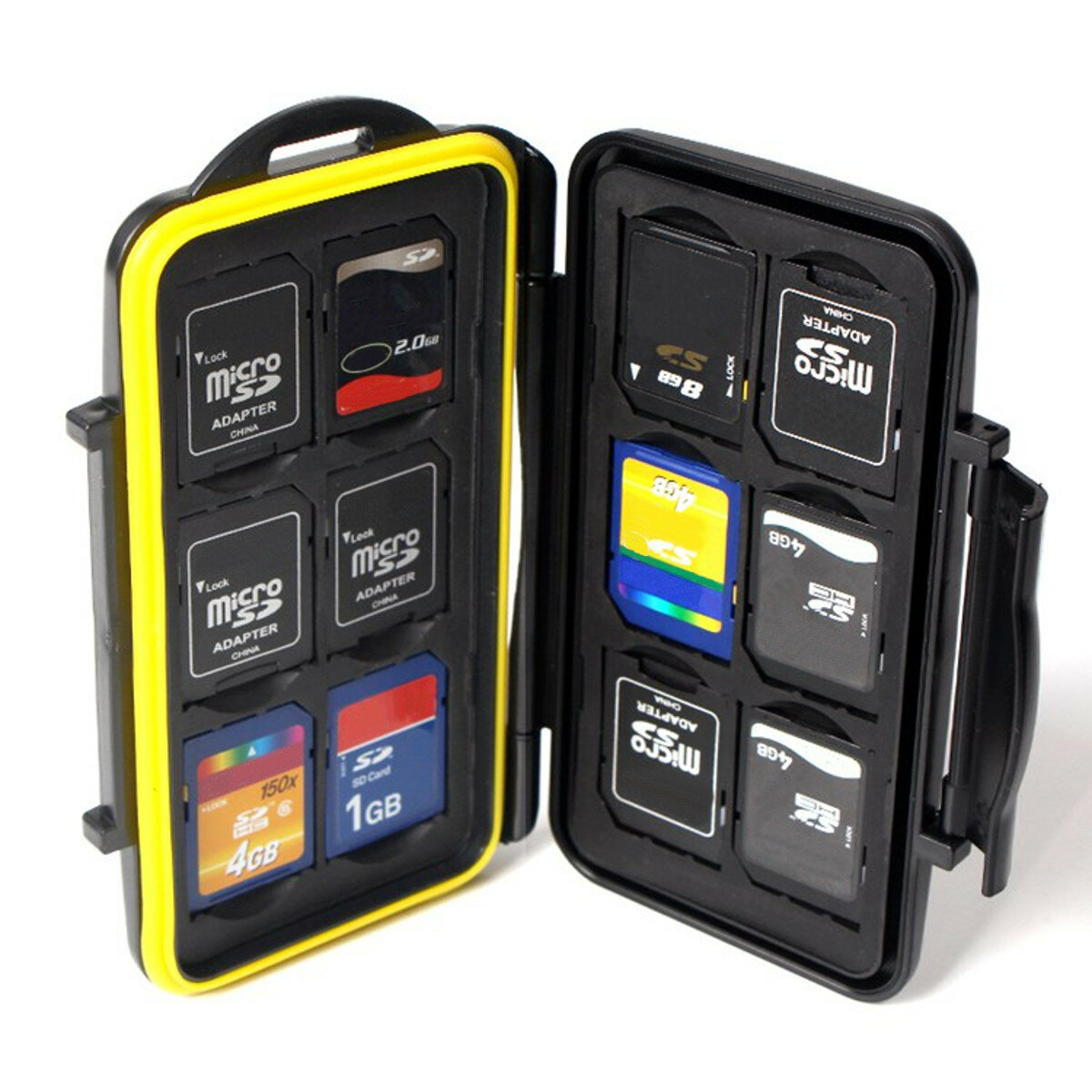 Waterproof Memory Card Case Box Protector Hard Pouch Support 12 SD 12 TF Micro SD Card