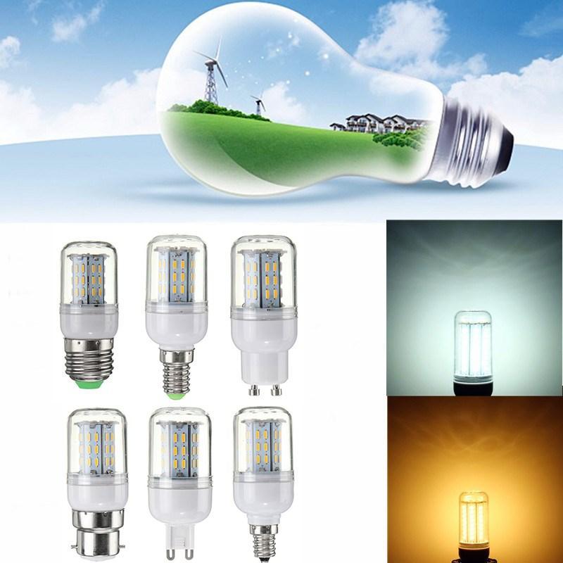 Dimmable 4W E27 E14 E12 G9 GU10 B22 4014 SMD Ampoule LED Corn Ampoule AC220V