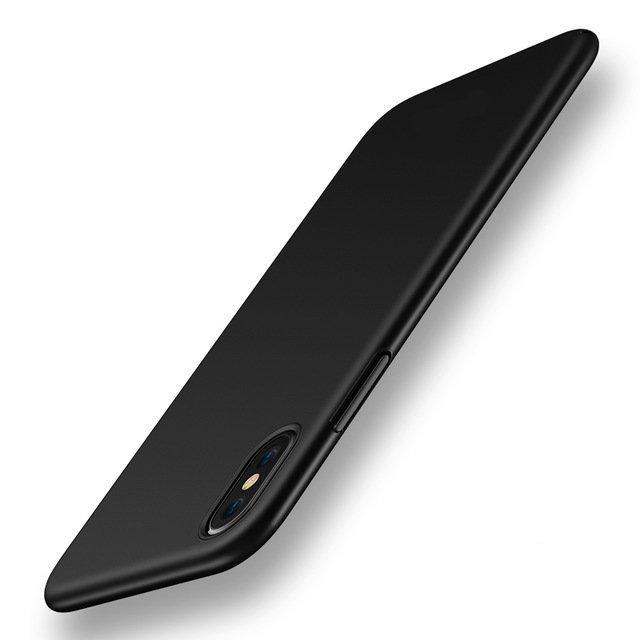 Ultra Thin Silky Vingerafdrukbestendig Hard Back Case voor iPhone X