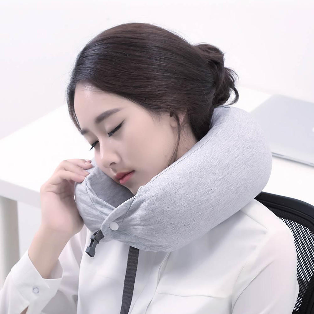 XIAOMI 8H Neck Support Pillow Sleep Relax Headrest Latex Cushion for Car Travel Home Office