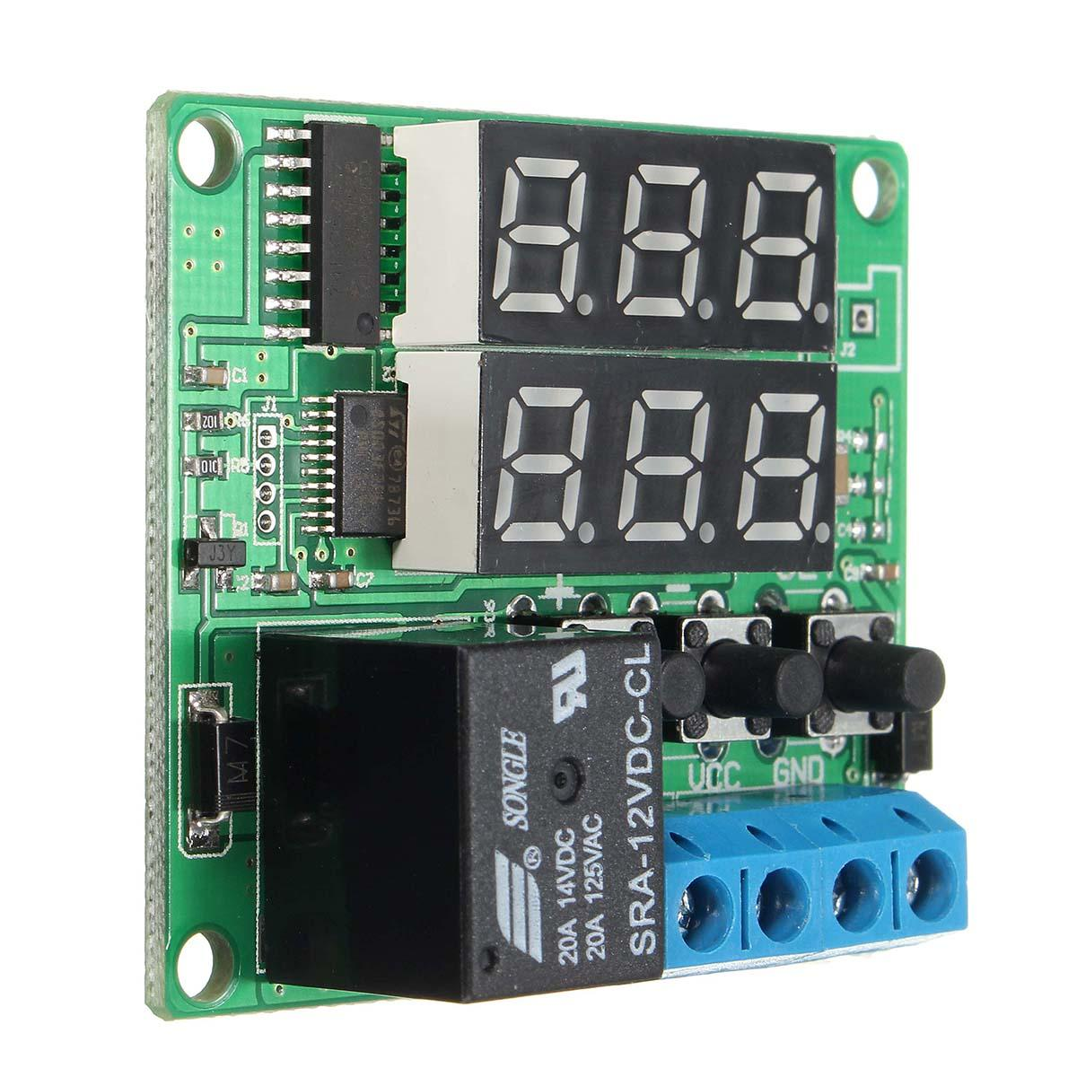 Dc12v Double Digital Led Cycle Timing Delay Time Timer Relay Module Cyclic Wiring Diagram 600x600